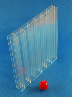 Stegplatten 16 mm Polycarbonat transparent